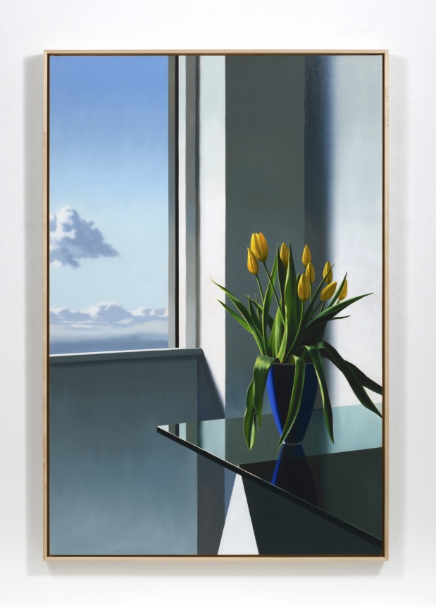 Bruce Cohen, Tulips on Glass Table, 2019