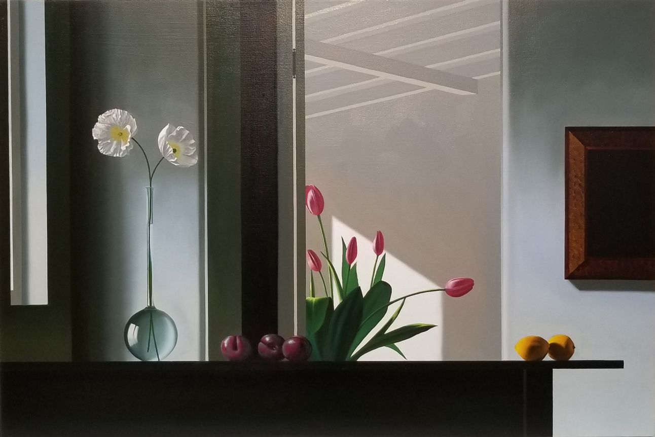 Bruce Cohen, Interior with Silhouetted Tulips, 2017-2018