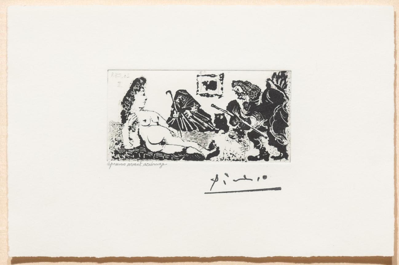Pablo Picasso, Vieux Beau Saluant, Aquatint