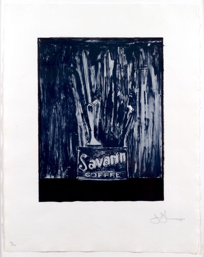Jasper Johns, Savarin 6 (Blue), Lithograph