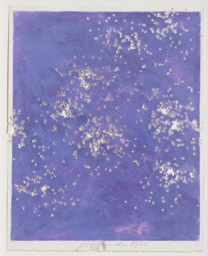 Joe Goode, Shotgun drawing, 1981, pastel on paper