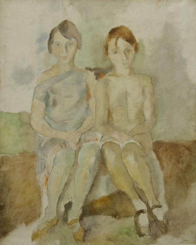 Jules Pascin, Deux Danseuses du Chatelet, Oil