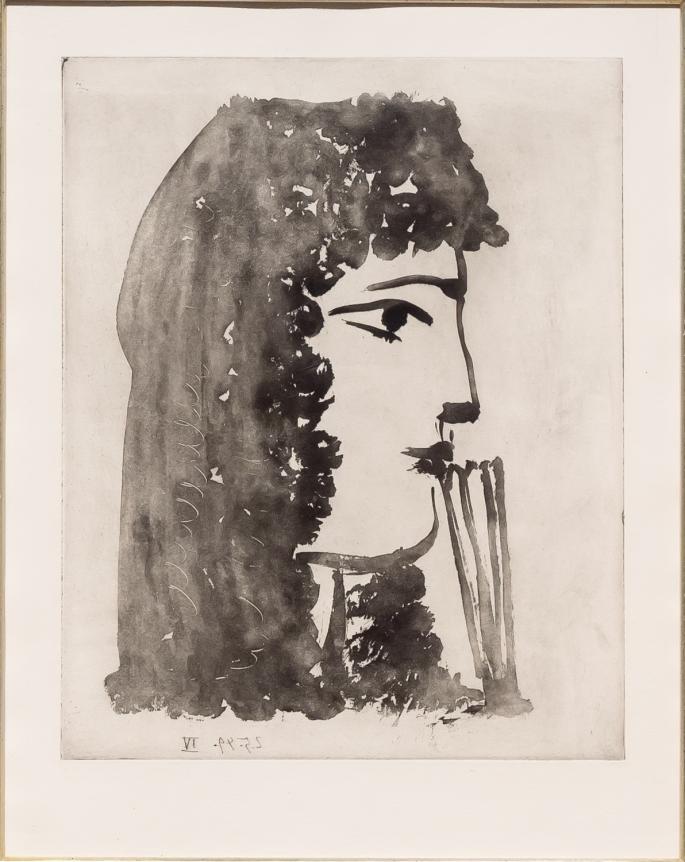Pablo Picasso, Carmen, del Profil, 1949