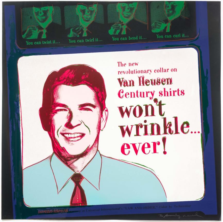 Andy Warhol, Van Heusen (Ronald Reagan), Silkscreen