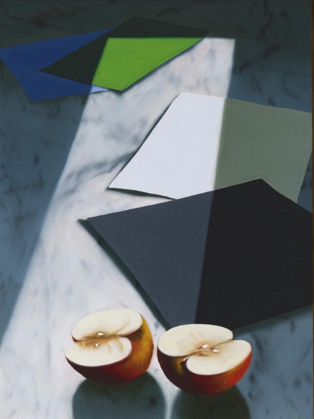Bruce Cohen, Sliced Apple, 2019, Oil on panel