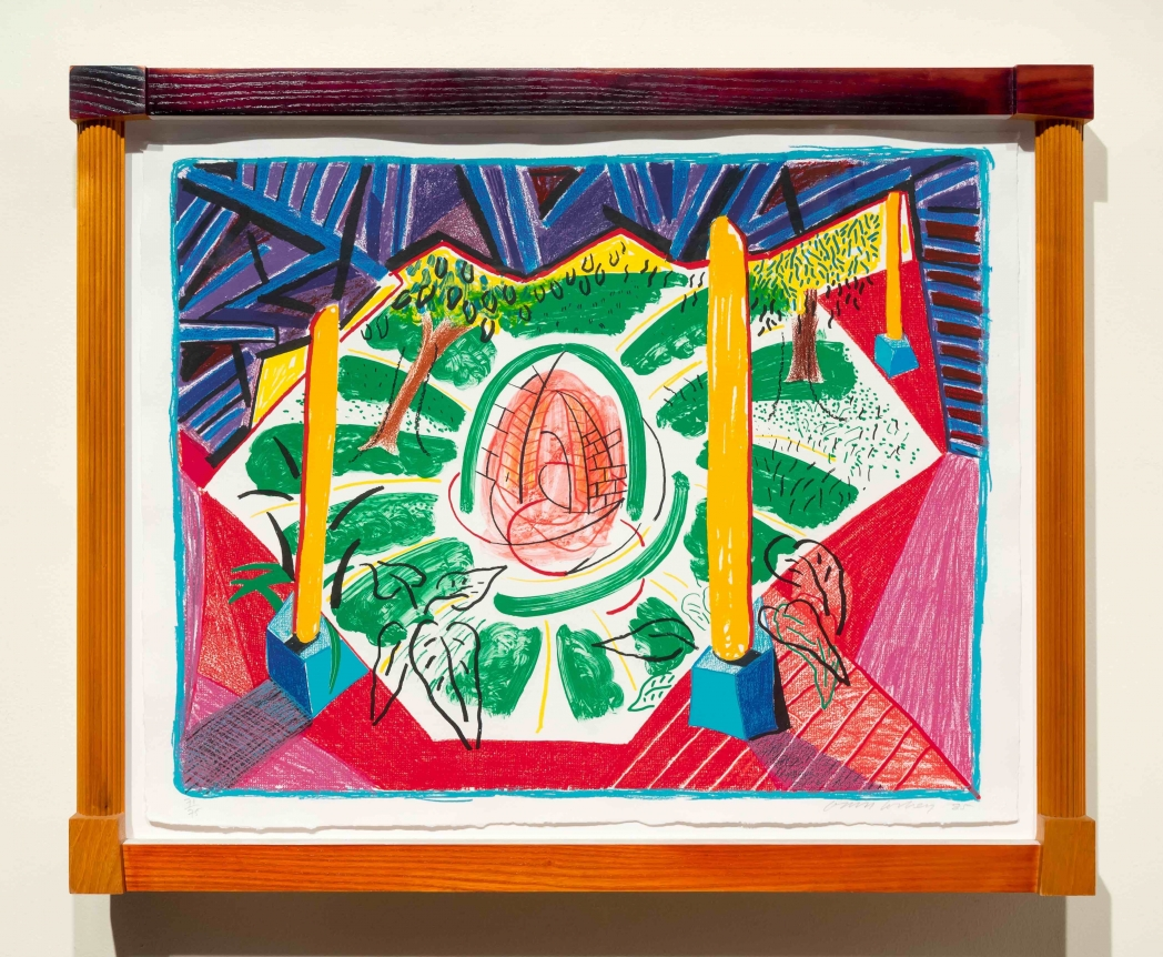 David Hockney, views of Hotel Well II, Lithograph