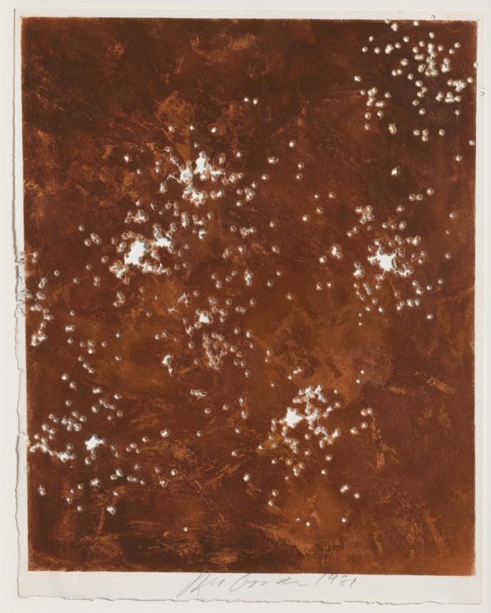 Joe Goode, Shotgun drawing (EId 16), 1981, pastel on paper