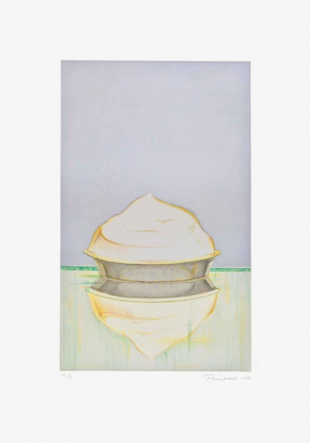 Wayne Thiebaud, Meringue, Etching and aquatint