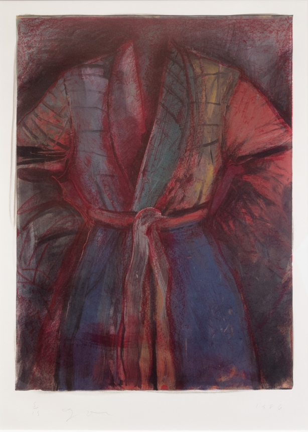 Jim Dine, Red Robe In France, 1985, Lithograph, Etching, Pop, Contemporary Art