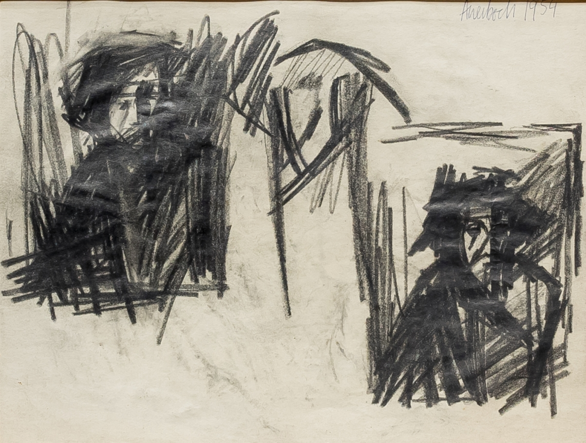 Frank Auerbach, Self-Portrait, drawing