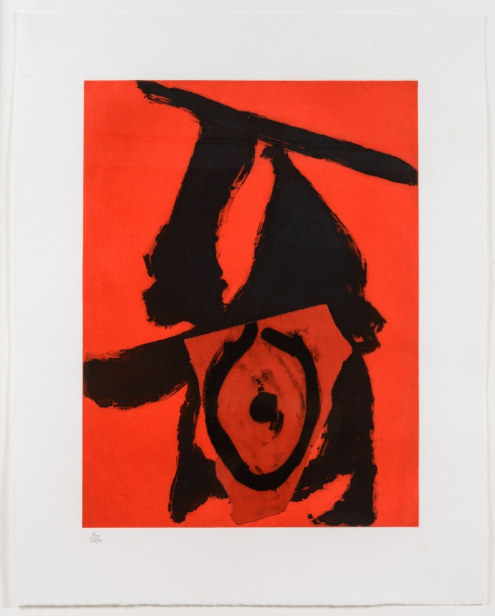 Robert Motherwell, Red Queen, Aquatint and etching