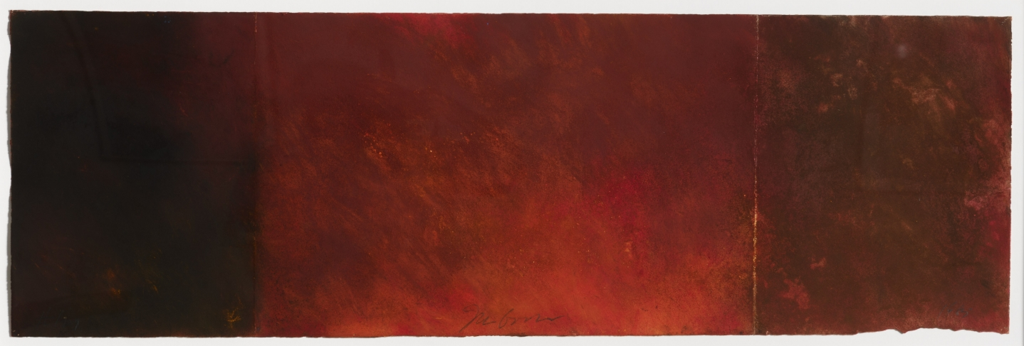 Joe Goode, Forest Fire drawing 129, Powdered pigment on paper