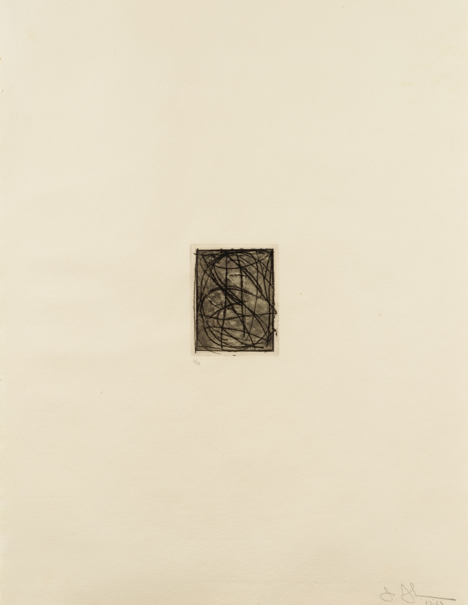 Jasper Johns, Numbers (small), Etching