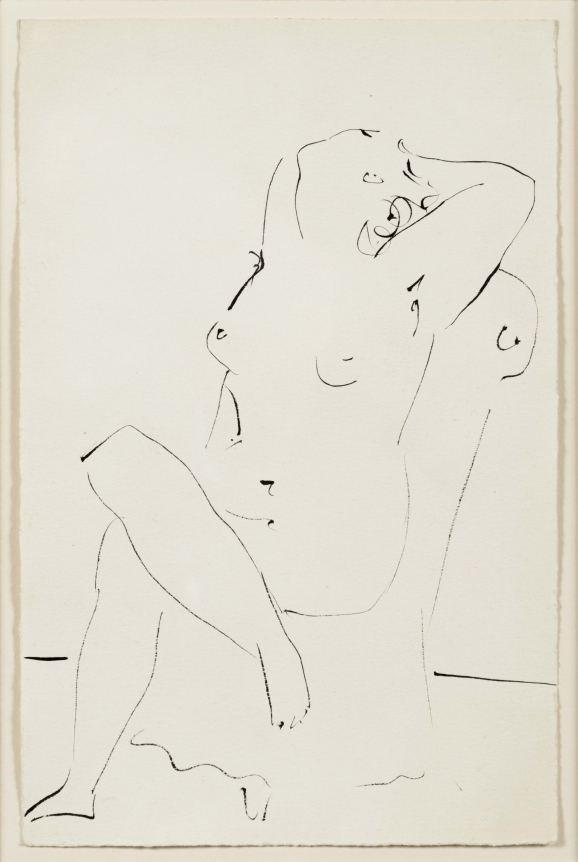 Pablo Picasso, Nude Sitting in an Armchair