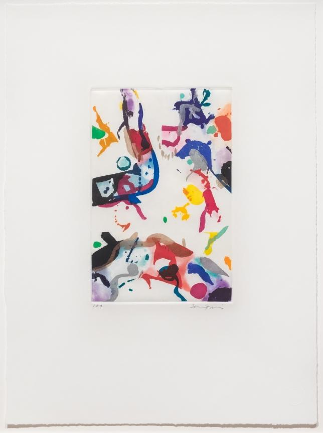 Sam Francis, Untitled 1990, Signed aquatint Edition Print