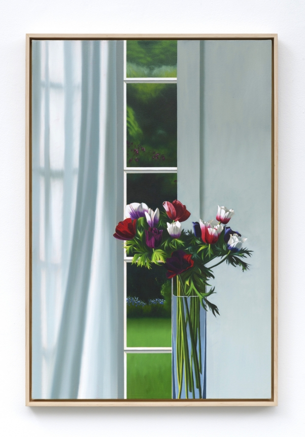 Bruce Cohen, Interior with Anemones and Curtain, 2019