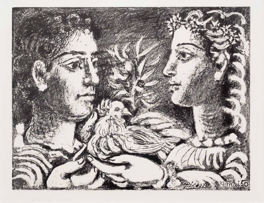 Pablo Picasso, Youth, Lithograph