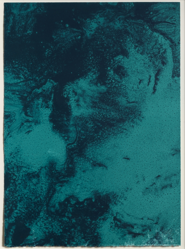 Joe Goode, Ocean Blue lithograph 23 (Color Test Print #8), 1990