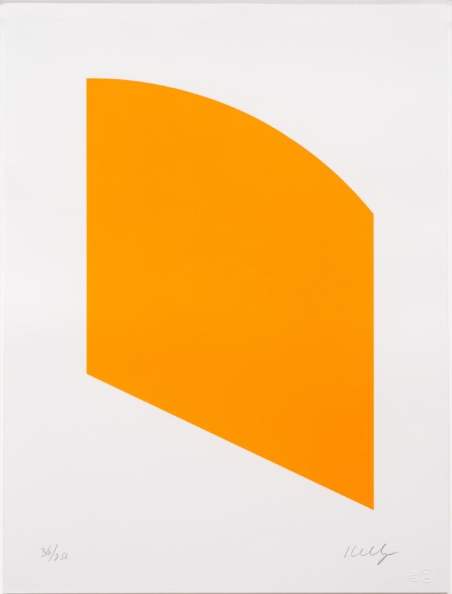 Ellsworth Kelly, Orange (Curve), Lithograph