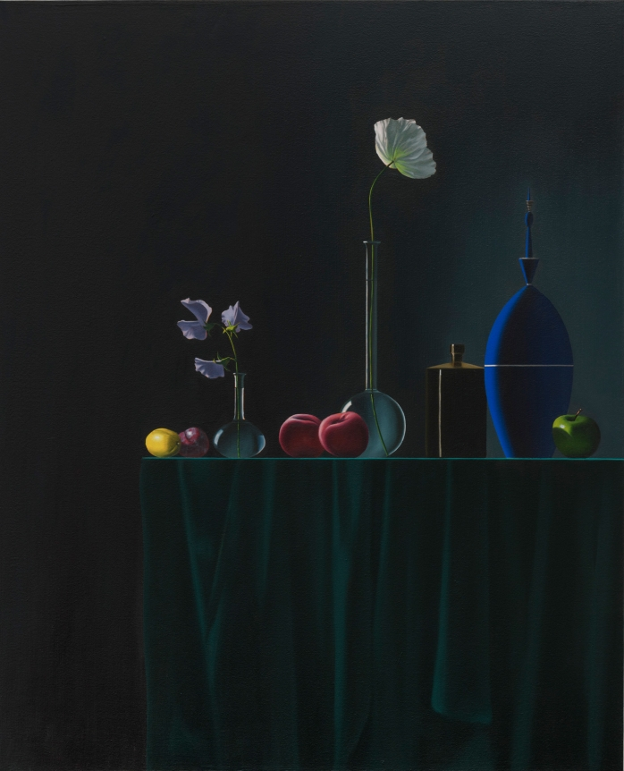 Bruce Cohen, Line of Objects, 2018, Oil on canvas, painting