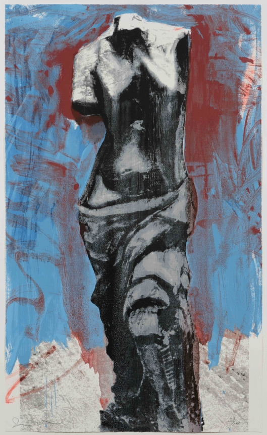 Jim Dine, Red, White and Blue Venus, 1984, Silkscreen, Pop, Contemporary, Signed