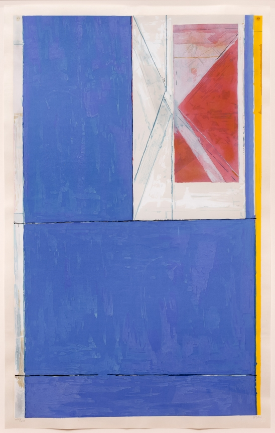 Richard Diebenkorn, Blue, Woodcut