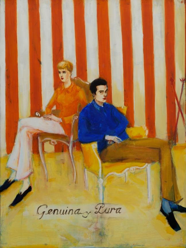 Elizabeth Peyton, Genuina y Pura, 1990, Oil on canvas