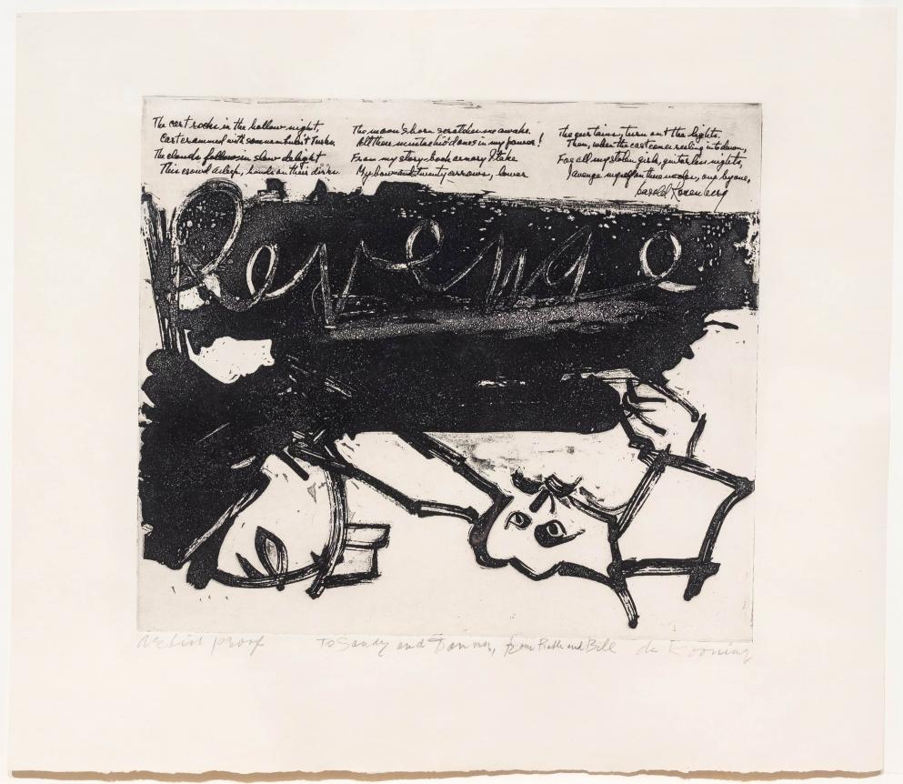 Willem De Kooning, Revenge, Aquatint