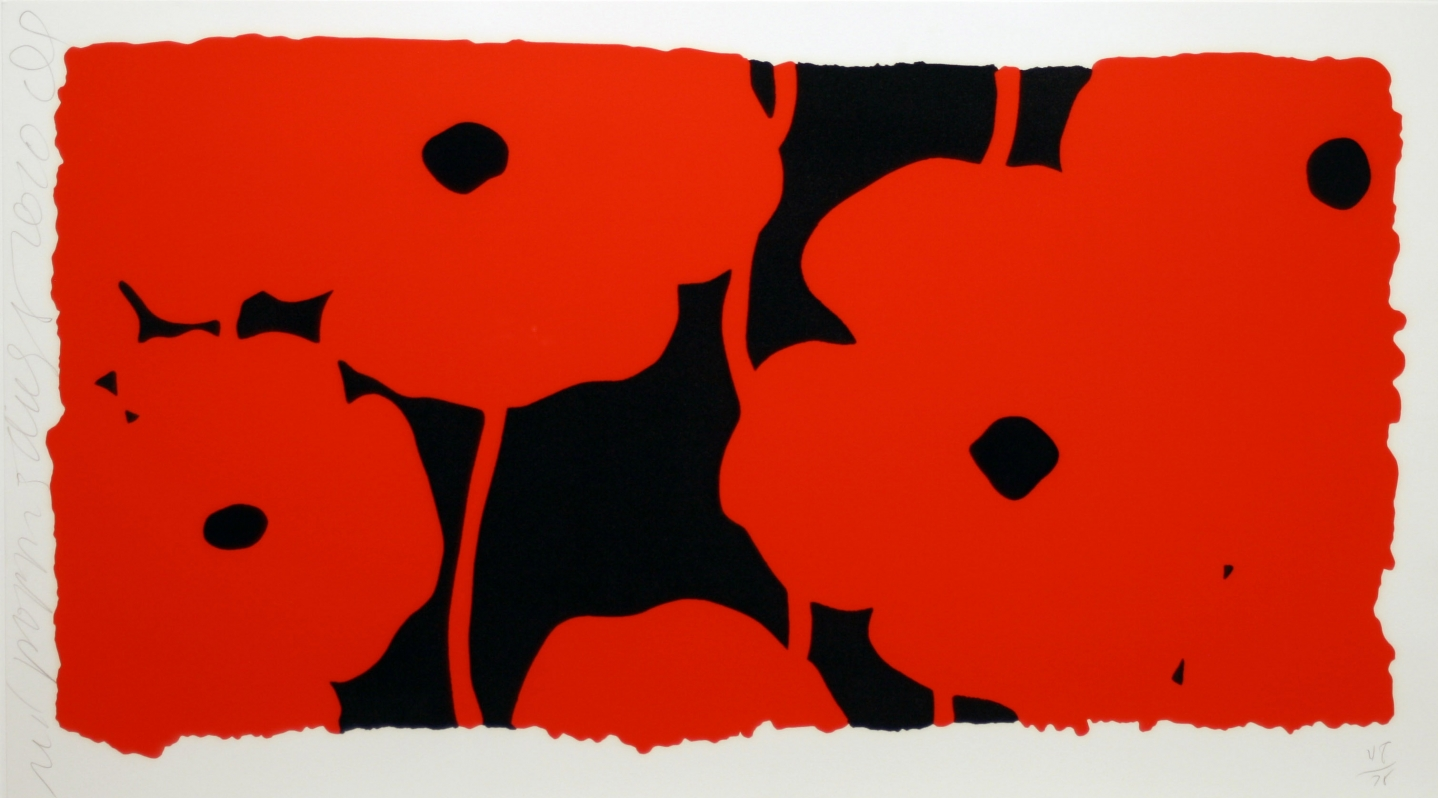 Donald Sultan, Eight Poppies, Screenprint