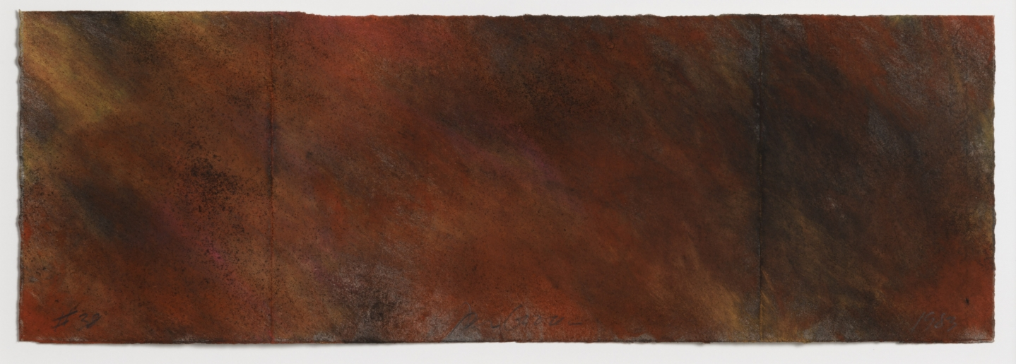 Joe Goode, Forest Fire drawing 38, 1983, Powdered pigment on paper