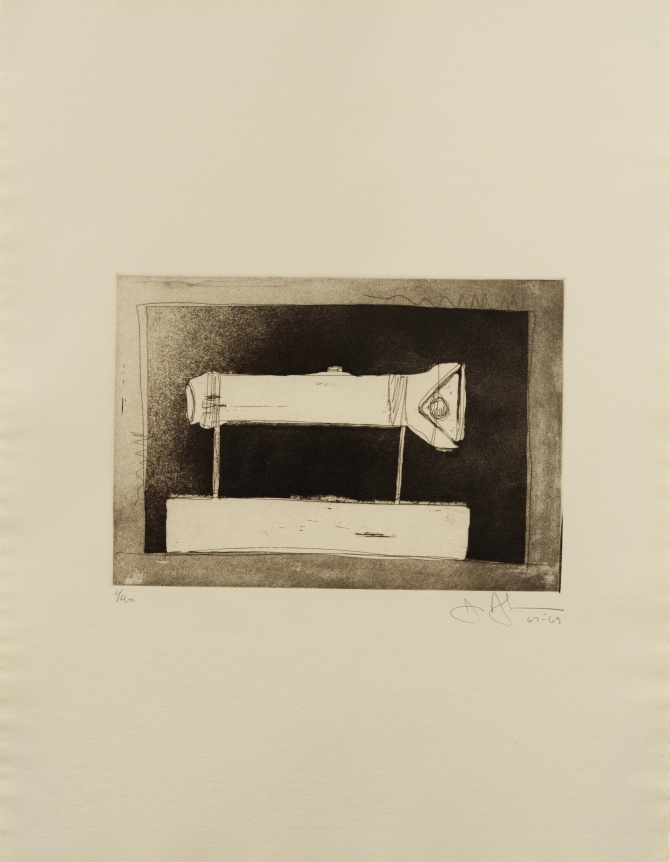 Jasper Johns, Flashlight, Etching and Aquatint