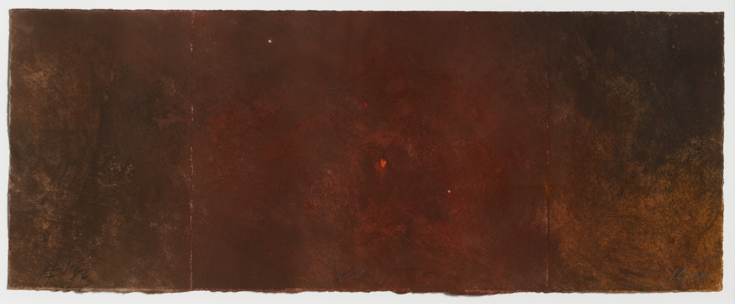 Joe Goode, Forest Fire drawing 132, 1985, Powdered pigment on paper