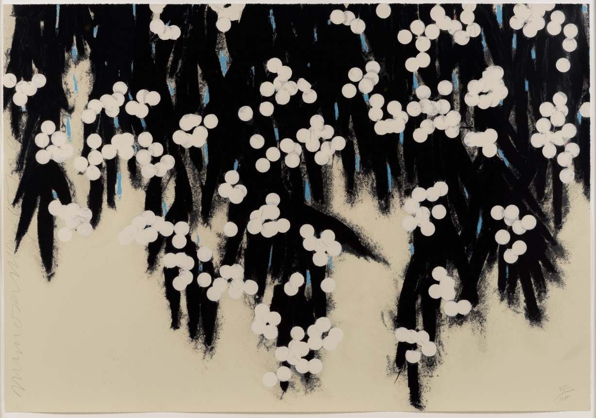 Donald Sultan, Mimosa, Screenprint