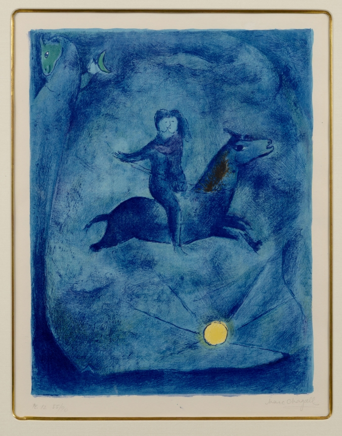 Marc Chagall, Mouning the Ebony Horse, Lithograph