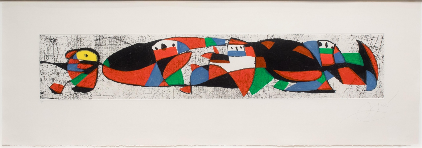 Joan Miro, Les Troglodytes I, Etching