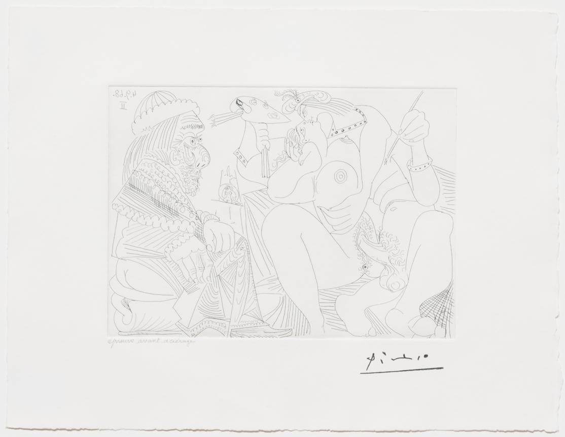 Pablo Picasso, Raphael et la Fornarina XVI, Etching