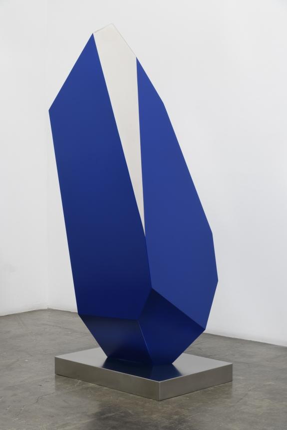 Jon Krawcyzk, 2019, Pero Azul, Stainless steel and automotive paint