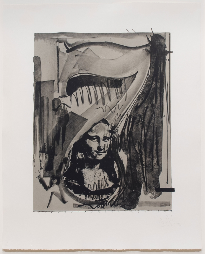 Jasper Johns, Figure 7, Lithograph