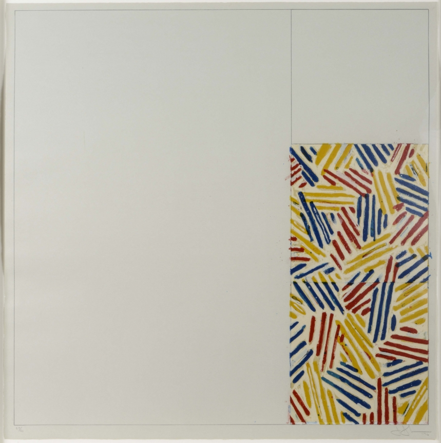 Jasper Johns, #4 (After untitled 1975), Lithograph