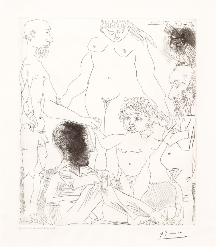 Pablo Picasso, Reflexion, from 60 Series, Drypoint