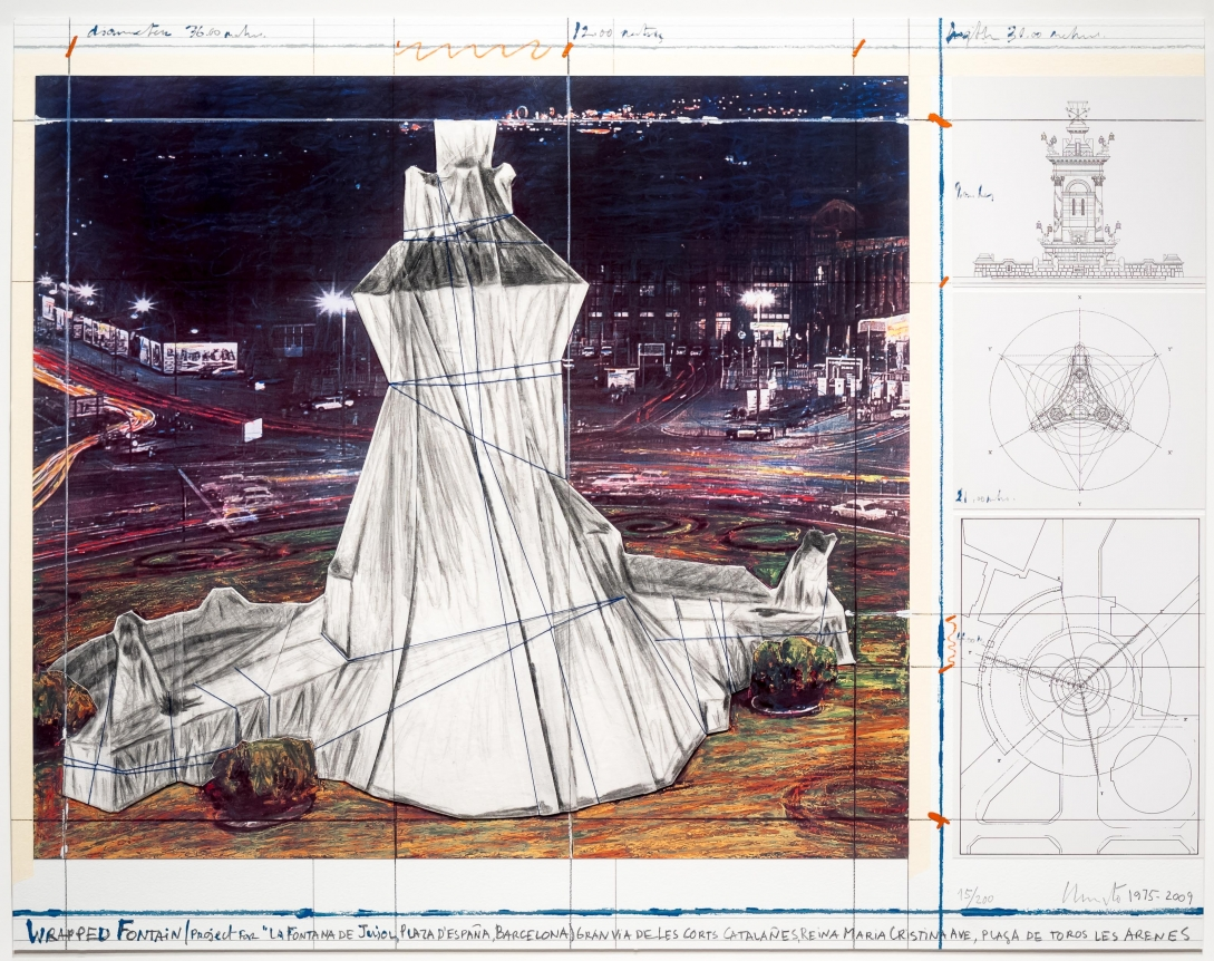 Christo, Wrapped Fountain, Lithograph