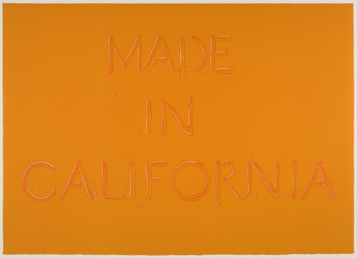 Ed Ruscha, Made In California 1971, Signed Lithograph