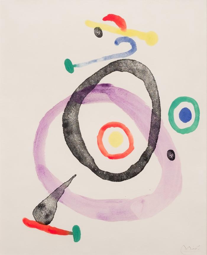 Joan Miro, Femme et Oiseau, 1965