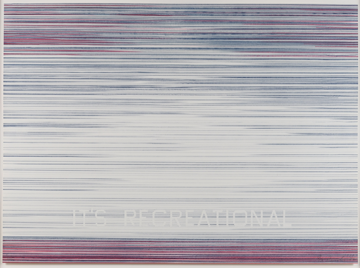 Ed Ruscha, It's Recreational, from the World Series, 1982, Lithograph Print