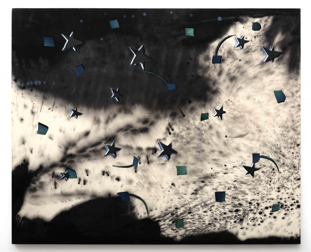 Ed Moses, Fettered-Spac, Acrylic on canvas