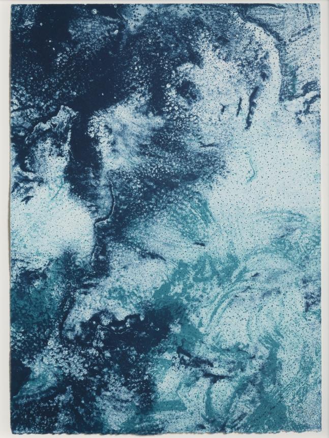 Joe Goode, Ocean Blue lithograph 23 (Color Test Print #12), 1990