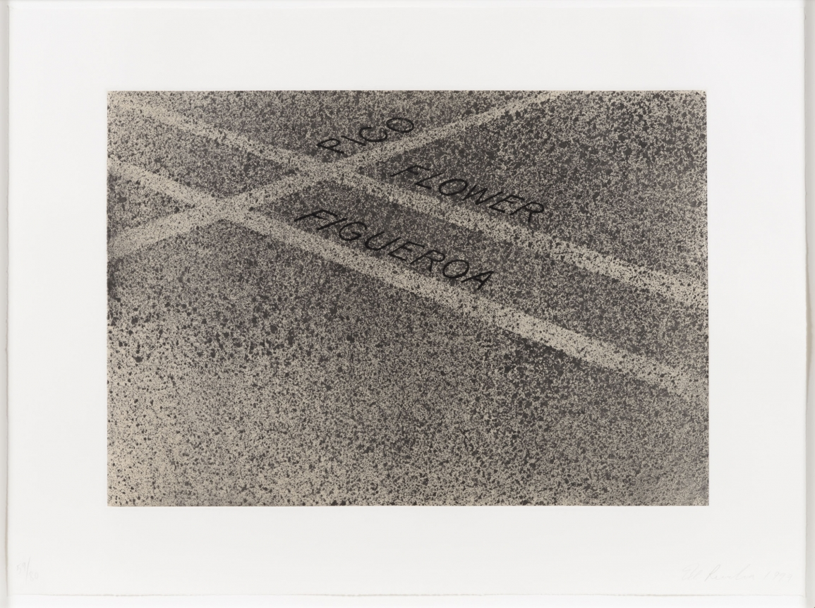 Ed Ruscha, Pico, Flower, Figueroa 1999, Signed Etching