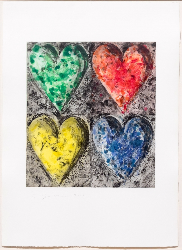 Jim Dine, Watercolor in Galilee, 2001, Etching, Hand Coloring, Pop, Contemporary Print