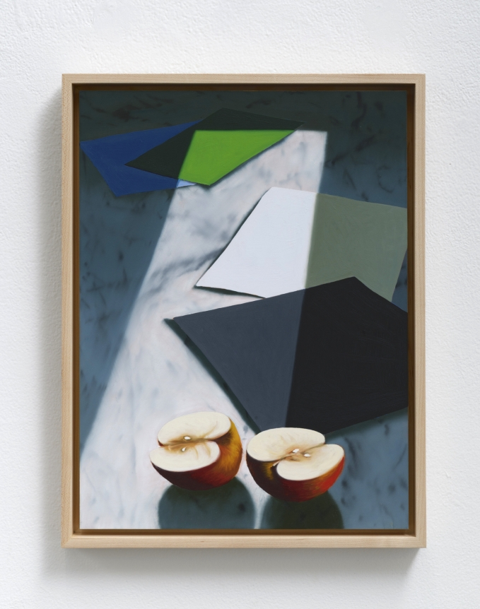 Bruce Cohen, Sliced Apple, 2019, Oil on panel