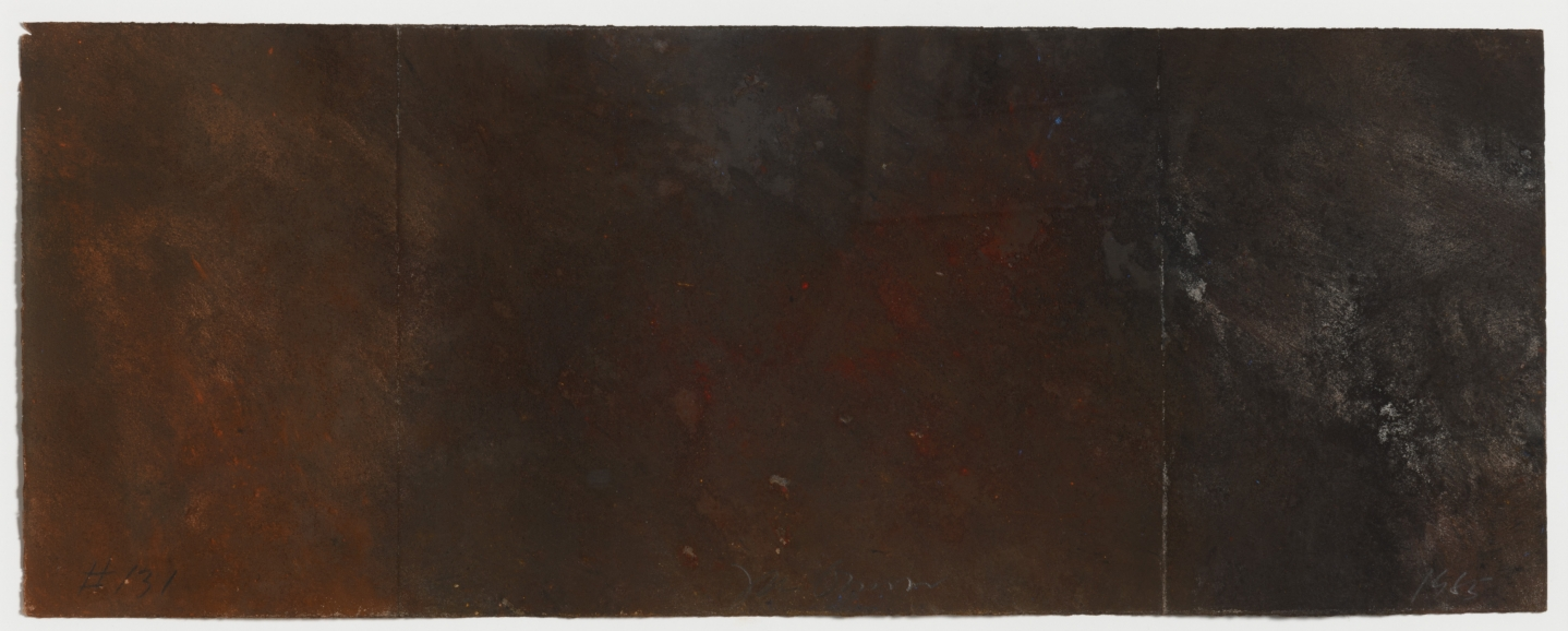 Joe Goode, Forest Fire drawing 131, 1985, Powdered pigment on paper